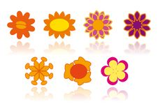Different Flowers - Vector Image Royalty Free Stock Photo