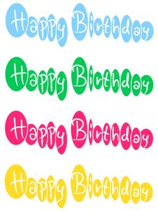 Happy Bithday Royalty Free Stock Images