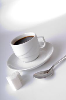 Free The Coffee Cup The Spoon And The Sugar Royalty Free Stock Photo - 8106605