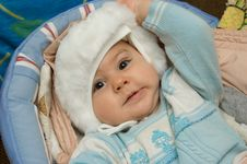 Free Baby Taking Off His Hat Stock Images - 8106624
