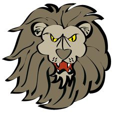 Cartoon Lion Face Stock Photo