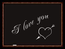 Free Heart On Chalkboard Royalty Free Stock Photos - 8106808