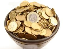 Free Coins In Ancient Bowl Stock Photos - 8107503