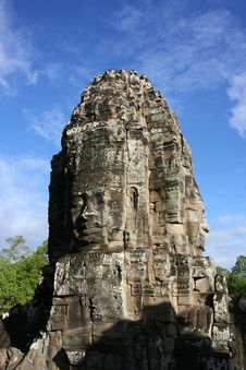 Free Faces At Bayon Temple Stock Images - 8107754
