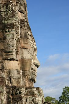 Free Face At Bayon Temple Royalty Free Stock Photo - 8107755
