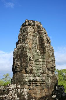 Free Faces At Bayon Temple Royalty Free Stock Photography - 8107767