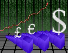 Rise In The Dollar (03) Stock Photos