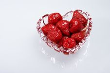 Free Strawberry In A Syrup Stock Image - 8107961