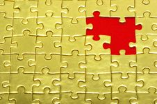 Free Gold Puzzle Royalty Free Stock Image - 8108066