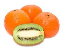 Free Kiwi And Mandarines Stock Photo - 8108200