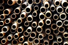 Free The Round Iron Tubes Royalty Free Stock Images - 8108729