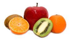 Free Kiwi, Mandarines And Apple Stock Image - 8108781