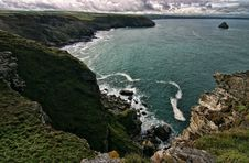 Free Seashore By Tintagel Stock Photography - 8108932
