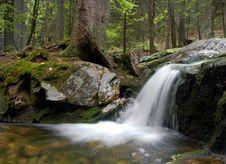 Free Mountain Waterfall In Bohemia Royalty Free Stock Photos - 8109128