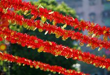 Red Decorations Stock Images