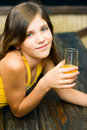 Free Pretty Teen Girl With Juice Royalty Free Stock Photography - 8111817