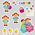 Free EasterStickersFem Stock Images - 8112934