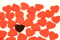 Free Black Heart With Red Hearts Royalty Free Stock Images - 8114459