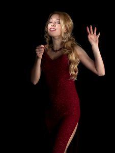 Free Hot Blondie Singing Royalty Free Stock Image - 8110046