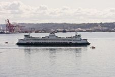 Free Large Ferry Crossing Busy Bay Stock Photo - 8110080
