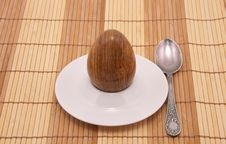 Free Served Stone Egg In A Rest Under Egg Royalty Free Stock Photo - 8110095