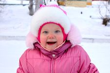 Free Pretty Little Girl In Winter Outerwear. Stock Photography - 8110132