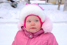 Free Pretty Little Girl In Winter Outerwear. Stock Photos - 8110143