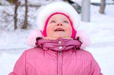 Free Pretty Little Girl In Winter Outerwear. Stock Photo - 8110170