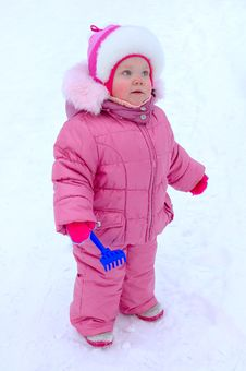Free Pretty Little Girl In Winter Outerwear. Royalty Free Stock Photography - 8110197
