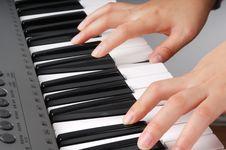 Free Playing Electronic Organ Stock Photos - 8110333