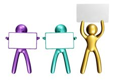 Free Colorful Icon Figure With Blank Message Board Stock Photo - 8110570