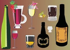 Free Color Glass And Bottles Collection Stock Photos - 8110643