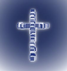 Free Religion Glowing Christian Cross Stock Photo - 8110720
