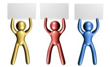 Free Colorful Icon Figure With Blank Message Board Royalty Free Stock Photos - 8111118
