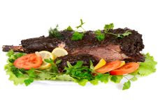 Free Served Roast Meat Royalty Free Stock Images - 8111339
