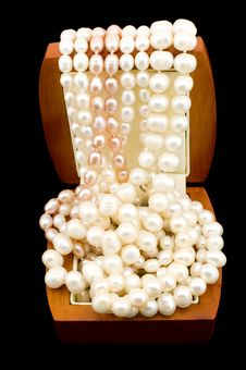 Free Pearls In Box Royalty Free Stock Images - 8111389