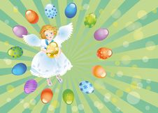 Free Easter Reason With An Angel-1 Royalty Free Stock Photography - 8111557