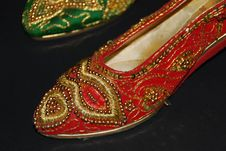 Free Embroidered Shoes Stock Photos - 8112203