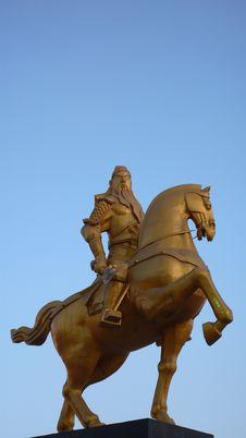 Free Guangong On The Horseback Royalty Free Stock Photo - 8112275