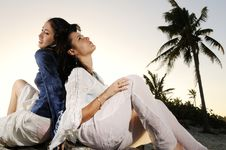 Free Relaxing On Tropical Beach Royalty Free Stock Photography - 8112287