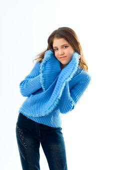 Free Portrait Of Cute Teen Girl Stock Photos - 8112603