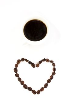 Free Coffee Beans And A Cup Of Coffee Stock Images - 8112954