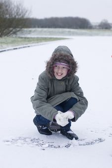 Free Making A Snowball Stock Photo - 8113390