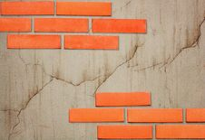 Free Bricks On An Old Wall With A Crack Stock Photography - 8113402