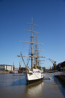 Impressive Sailing Boat In The Harbour Stock Photography