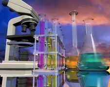 Chemical Devices Stock Image