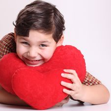 Free Boy And Heart Royalty Free Stock Photos - 8114368