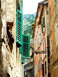Kotor Old Town Stock Photo