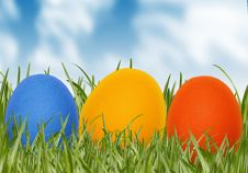 Free Easter Eggs In Spring Grass Royalty Free Stock Images - 8114569