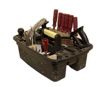 Free All The Workers Tools In A Box Royalty Free Stock Image - 8115686